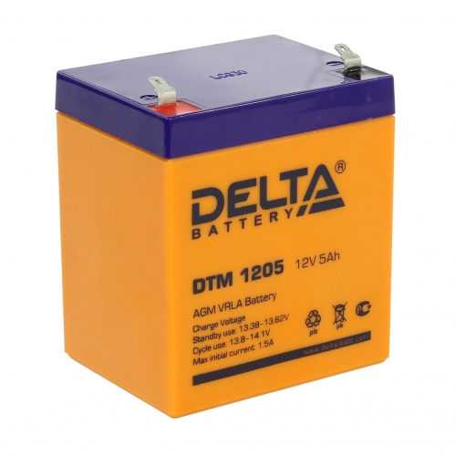 Аккумулятор для ИБП Delta DTM 1205 (12V / 5Ah, AGM)