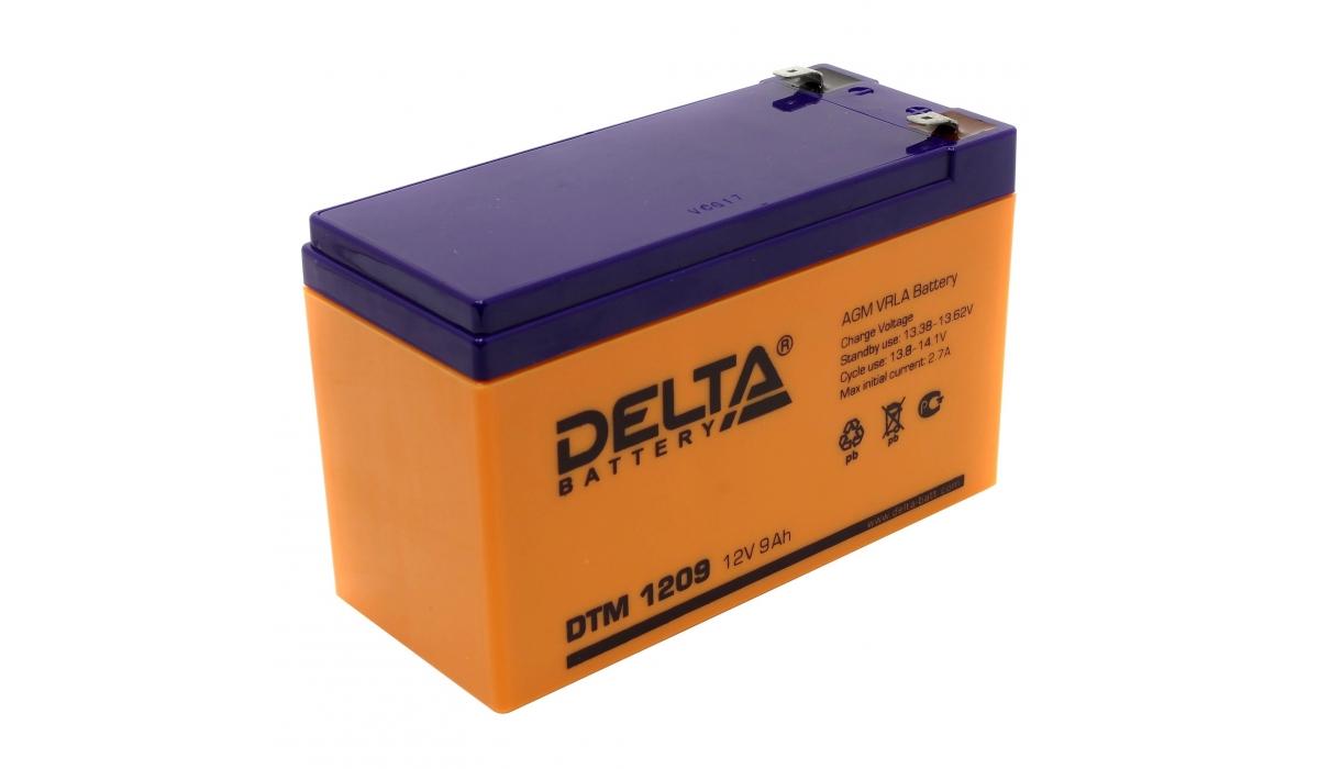 Аккумулятор Delta DTM 1209 (12V / 9Ah, AGM)