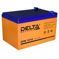 Аккумулятор Delta DTM 1212 (12V / 12Ah, AGM)