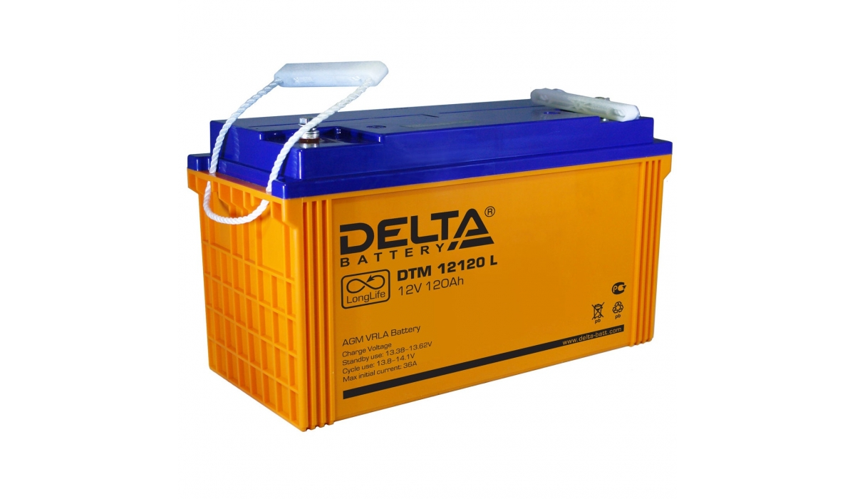 Аккумулятор Delta DTM 12120 L (12V / 120Ah, AGM)