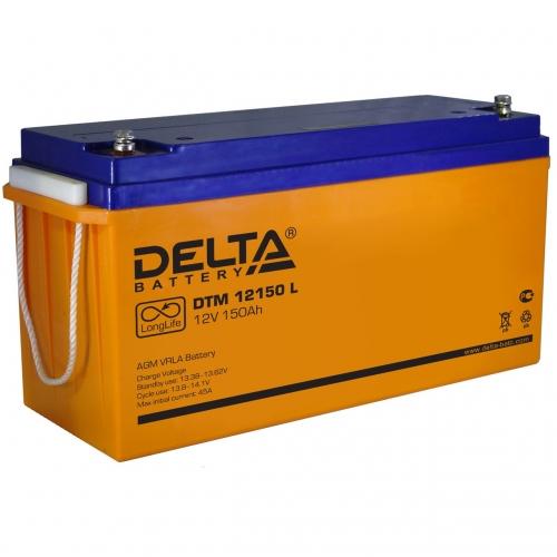 Аккумулятор Delta DTM 12150 L (12V / 150Ah, AGM)