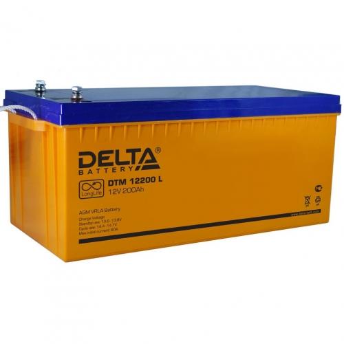 Аккумулятор Delta DTM 12200 L (12V / 200Ah, AGM)