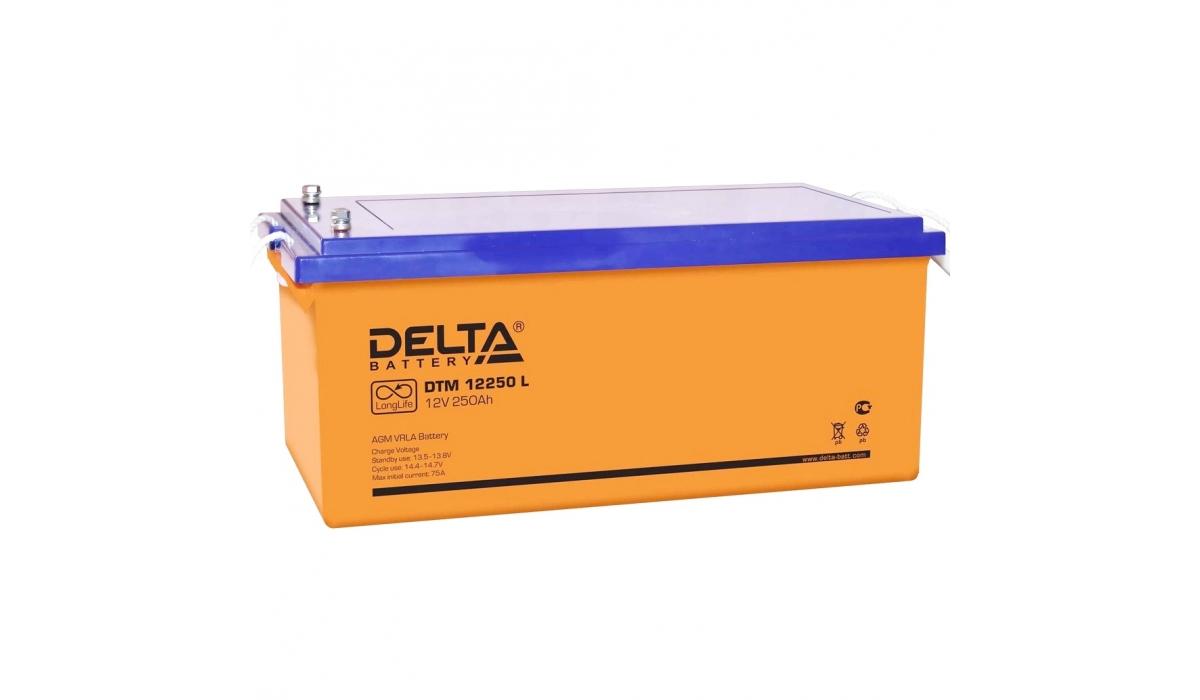 Аккумулятор Delta DTM 12250 L (12V / 250Ah, AGM)