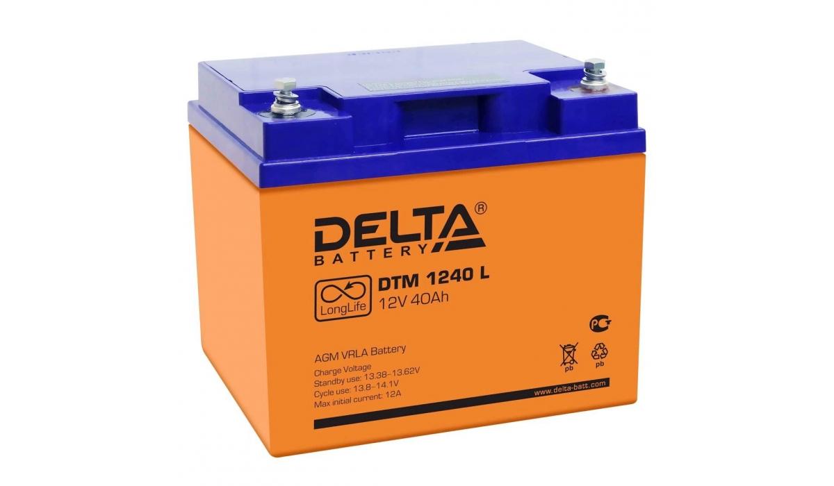 Аккумулятор Delta DTM 1240 L (12V / 40Ah, AGM)
