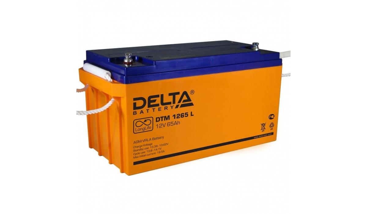 Аккумулятор Delta DTM 1265 L (12V / 65Ah, AGM)