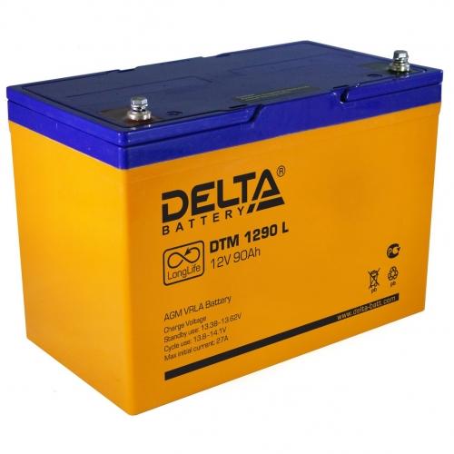 Аккумулятор Delta DTM 1290 L (12V / 90Ah, AGM)