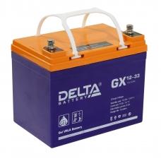 Аккумулятор Delta GX 12-33 (12V / 33Ah)