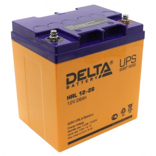 Аккумулятор Delta HRL 12-26 (12В, 26 А*ч, AGM)