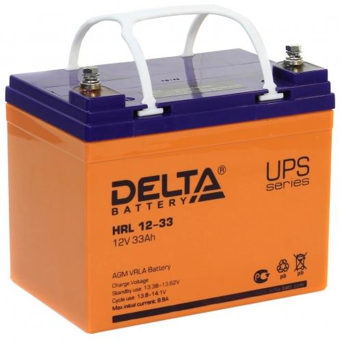 Аккумулятор Delta HRL 12-33 (12В, 33 А*ч, AGM)
