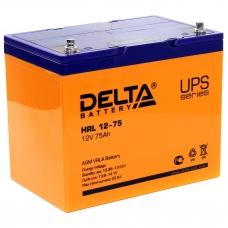 Аккумулятор Delta HRL 12-75 (12В, 75 А*ч, AGM)