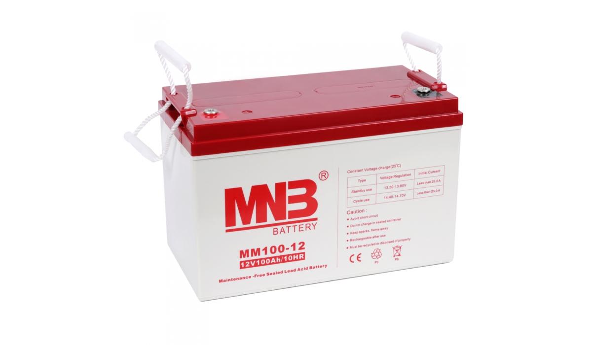 MM 100-12  (MNB), 12В, 100 А*ч, AGM Аккумуляторная батарея