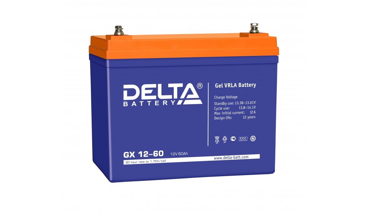 Аккумулятор Delta GX 12-60 (12V / 60Ah)