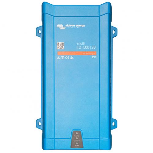 Multi 12/500/20-16 230V (Victron Energy), 12В, 500Вт Инвертор c зарядным устр.