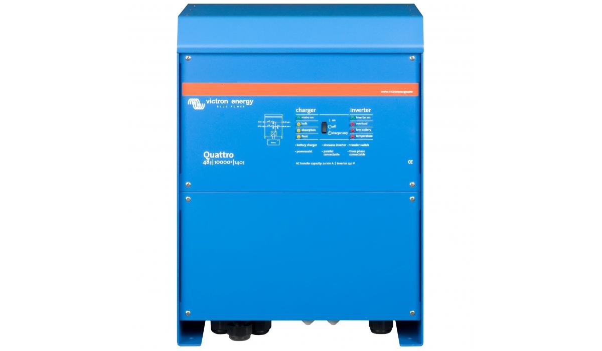 Quattro 48/10000/140-100/100 (Victron Energy), 48В, 10000ВА, З/У 140А, 2 входа 100А Инвертор с зарядным устройством