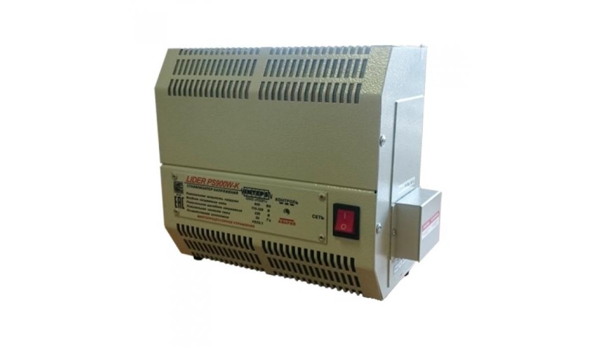 Стабилизатор напряжения Lider PS900W-30-K, (НПП ИНТЕПС, Россия), 0,9 кВа, 1фаза, 4,5%