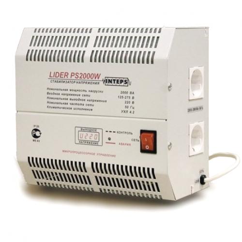 Стабилизатор напряжения Lider PS2000W-30, (НПП ИНТЕПС) 2 кВа, 125-275 В, 1фаза, 4,5%