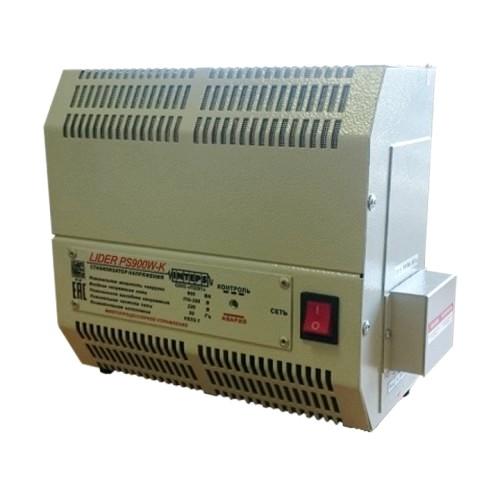 Стабилизатор напряжения Lider PS1200W-30-K, (НПП ИНТЕПС, РФ), 1.2 кВа, 1ф, 4,5%