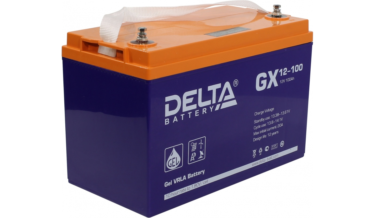 Аккумулятор Delta GX12-100 Expert (12V / 100Ah)