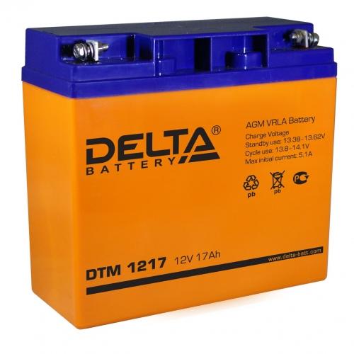 Аккумулятор Delta DTM 1217 (12V / 17Ah, AGM)