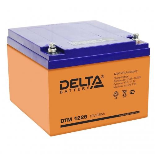 Аккумулятор Delta DTM 1226 (12V / 26Ah, AGM)
