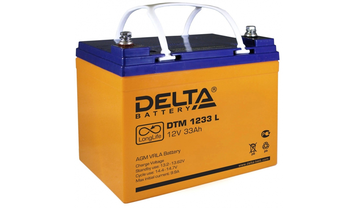 Аккумулятор Delta DTM 1233 L (12V / 33Ah, AGM)