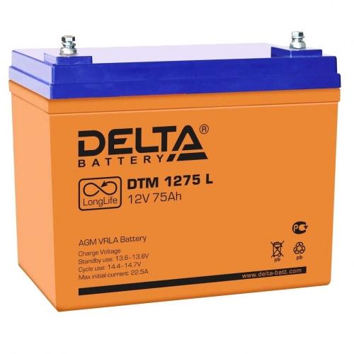 Аккумулятор Delta DTM 1275 L (12V / 75Ah, AGM)