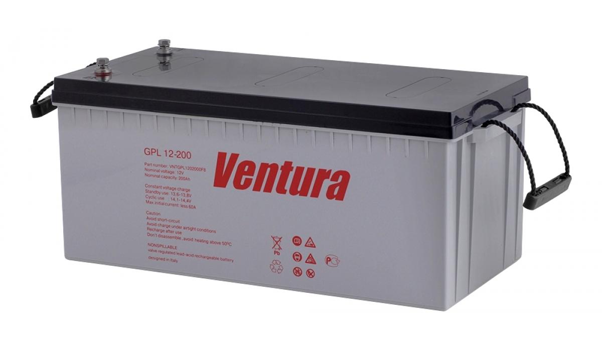 GPL12-200 Ventura 12В, 200 А*ч, Аккумуляторная батарея AGM