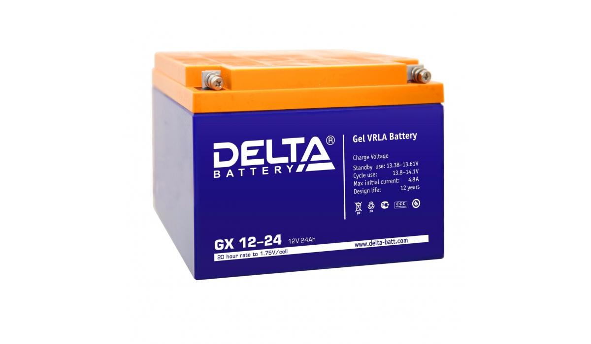 Аккумулятор Delta GX 12-24 (12V / 24Ah)