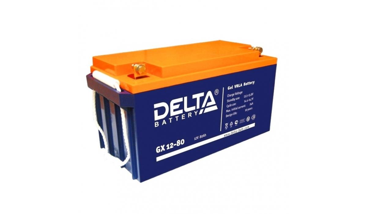 Аккумулятор Delta GX 12-80 (12V / 80Ah)
