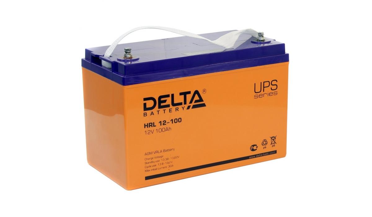 Аккумулятор Delta HRL 12-100 (12В, 100 А*ч, AGM)