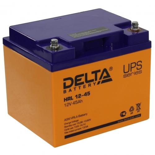 Аккумулятор Delta HRL 12-45 (12В, 45 А*ч, AGM)