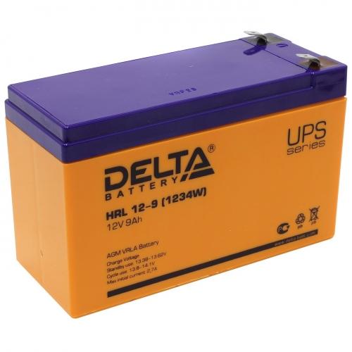Аккумулятор Delta HRL 12-9 (12В, 9 А*ч, AGM)