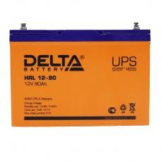 Аккумулятор Delta HRL 12-90 (12В, 90 А*ч, AGM)