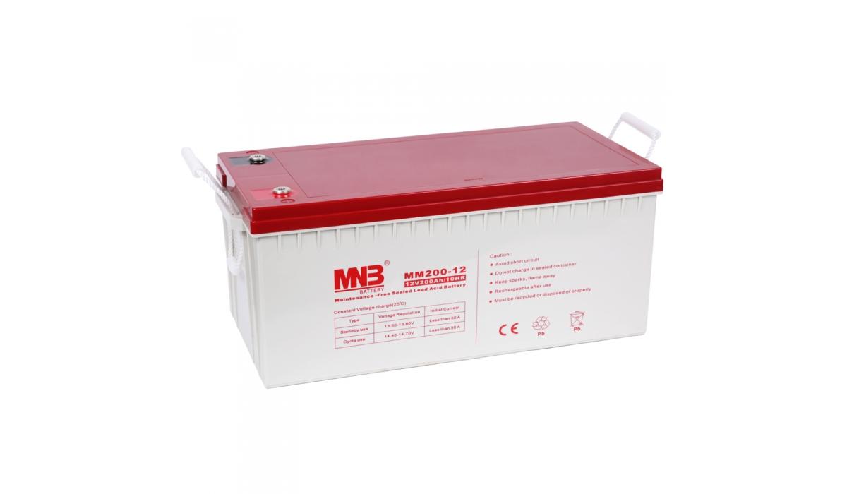 MM 200-12  (MNB), 12В, 200 А*ч, AGM Аккумуляторная батарея
