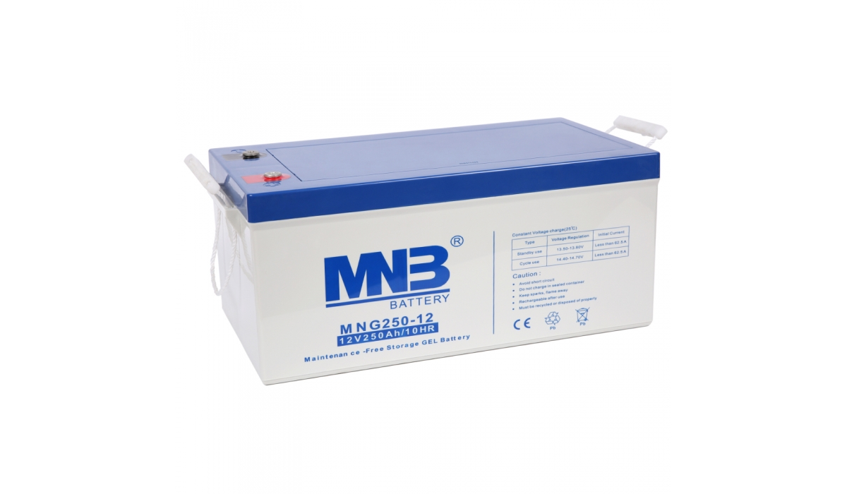 MNG 250-12 (MNG), 12В, 250 А*ч, гелевая Аккумуляторная батарея