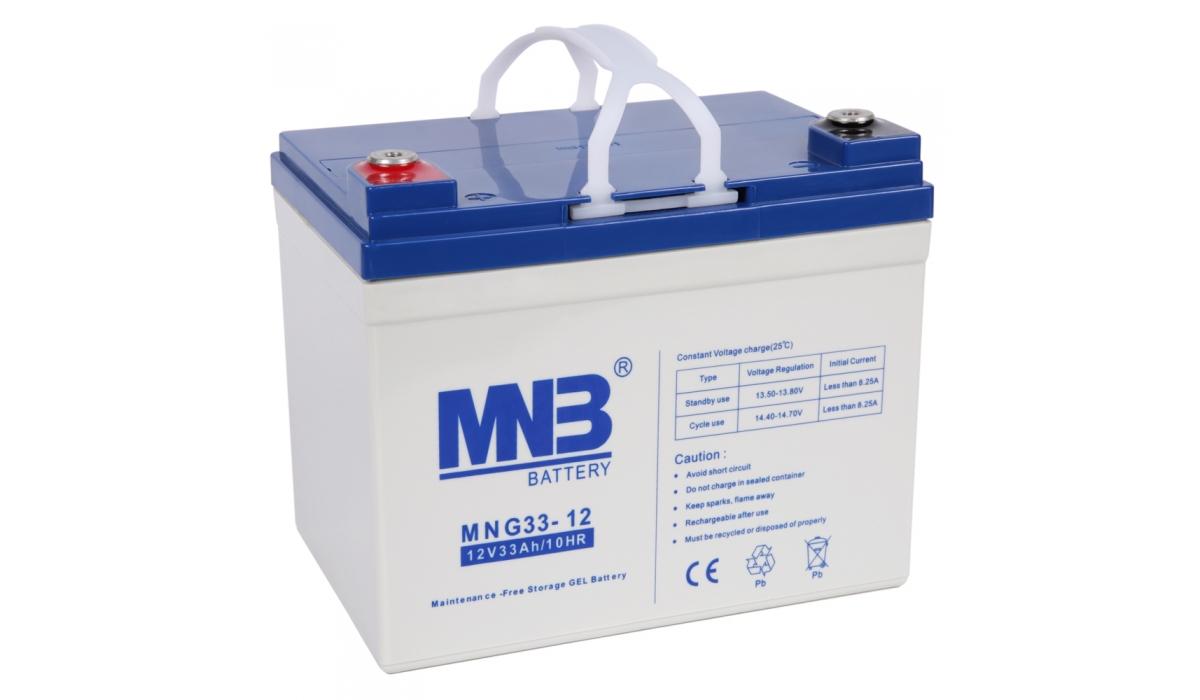MNG 33-12 (MNG), 12В, 33 А*ч, гелевая Аккумуляторная батарея