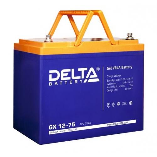 Аккумулятор Delta GX 12-75 (12V / 75Ah)
