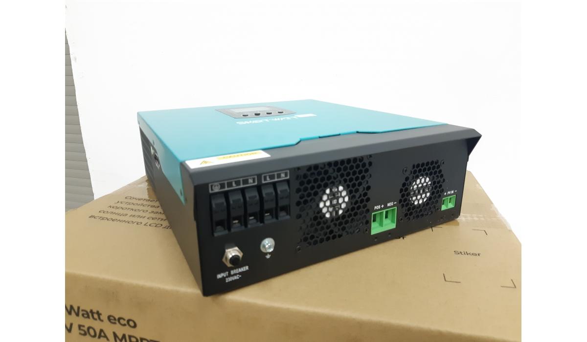 SmartWatt eco 3K, 24VDC, 50A MPPT (SmartWatt) Инвертор с зарядным устр. и MPPT контроллером