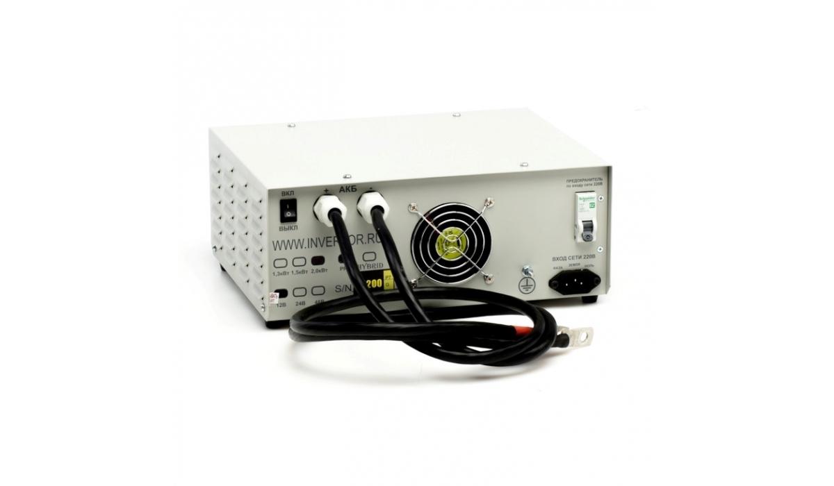 Инвертор МАП HYBRID 2.0 кВт, 24-220 В, чистый синус, ИБП