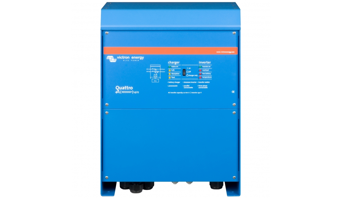 Quattro 48/15000/140-100/100 (Victron Energy), 48В, 15000ВА, З/У 140А, 2 входа 100А  Инвертор с зарядным устройством