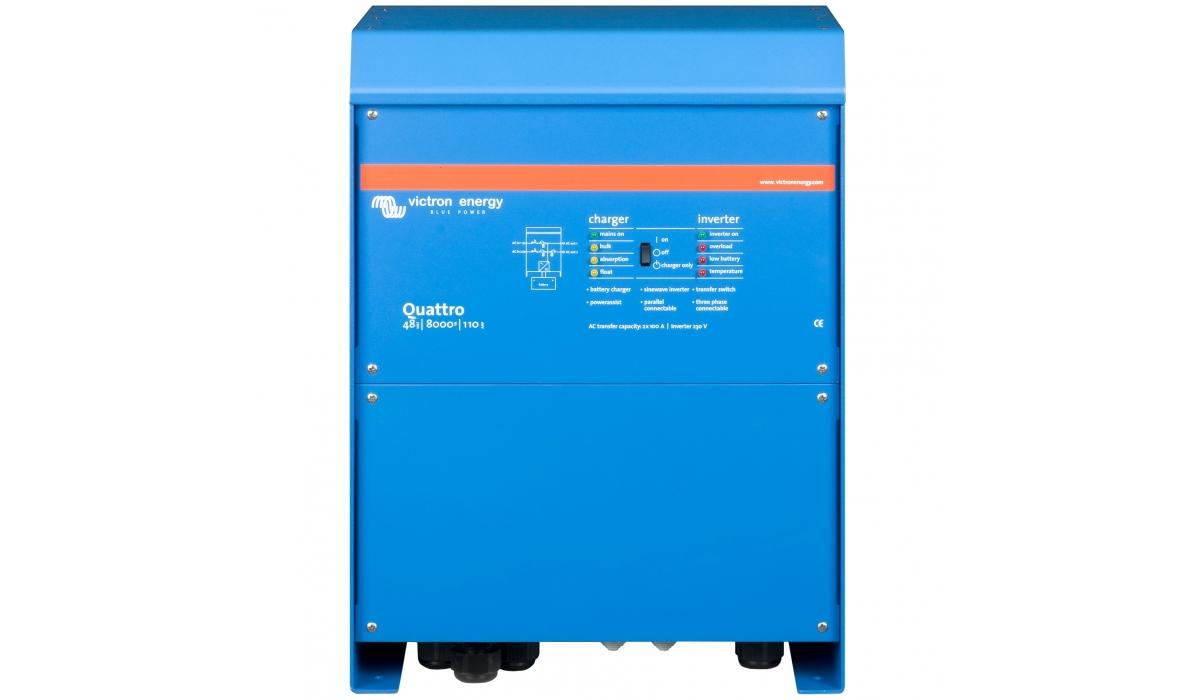 Quattro 48/8000/110-100/100 (Victron Energy), 48В, 8000ВА, З/У 110А, 2 входа 100А Инвертор с зарядным устройством
