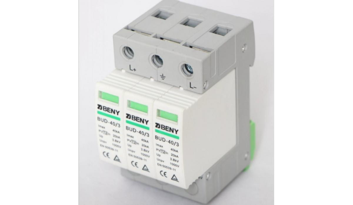 Грозозащитный разрядник Beny BUD-40/3R DC 40kА на линию постоянного тока до 1000В