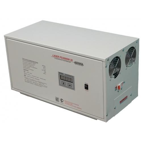 Стабилизатор напряжения Lider PS3000W-30, (НПП ИНТЕПС) 3 кВа, 125-275 В, 1фаза, 4,5%