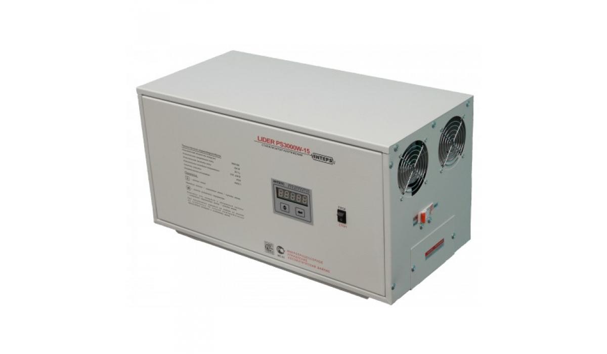 Стабилизатор напряжения Lider PS3000W-15, (НПП ИНТЕПС) 3 кВа, 145-272 В, 1фаза, 4,5%