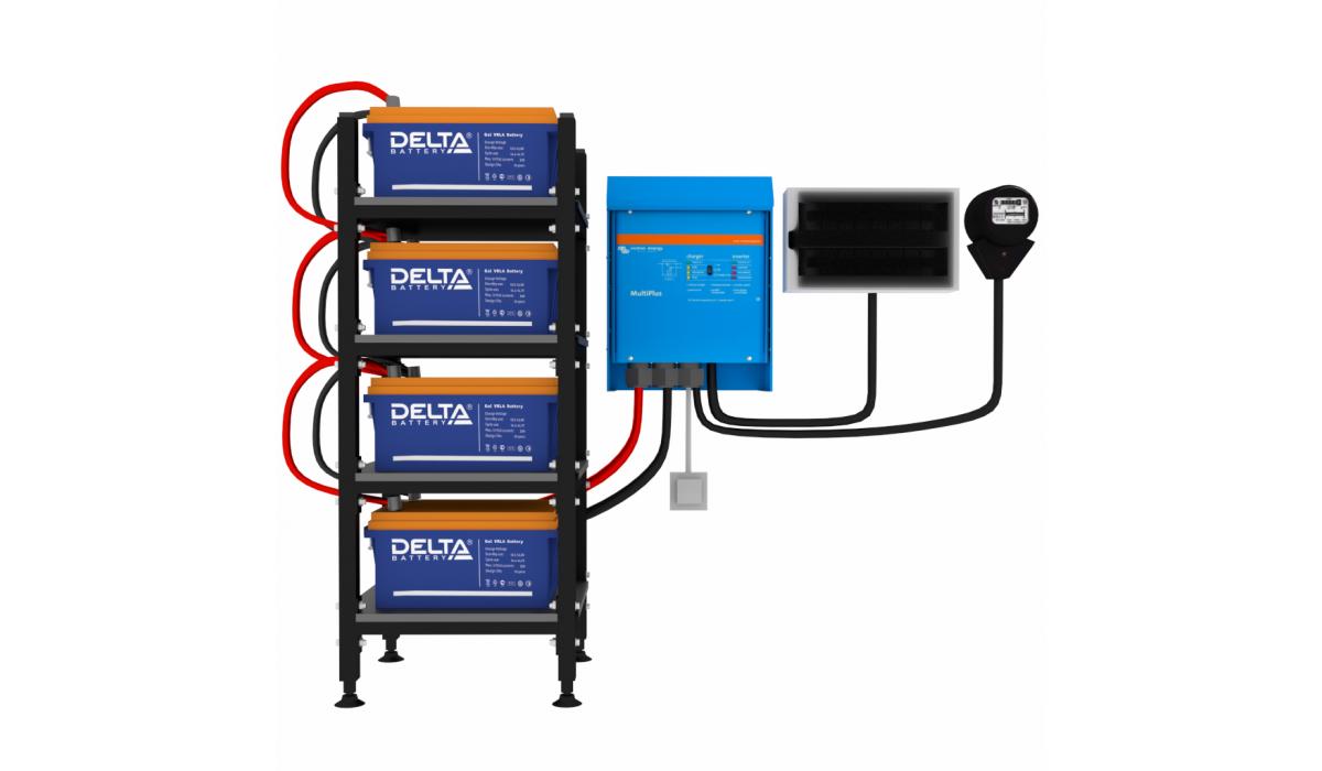 """Комплект №8 """"ИБП для дома"""" - Мощность до 3 кВт. Энергоёмкость 8 кВт*ч. Время резерва 10 часов"""